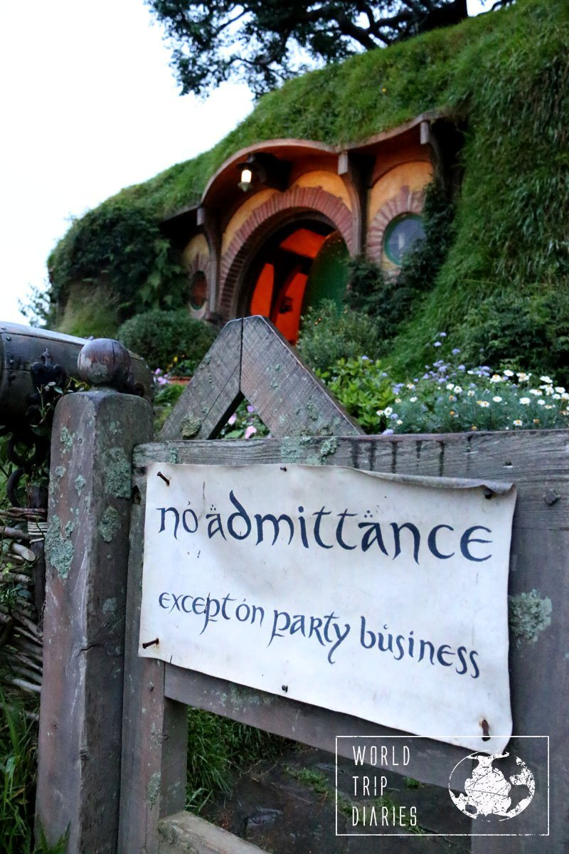 Bilbo's house in Hobbiton (NZ). That's as close as one can get. Pretty disappointing for the kids, but still fun.