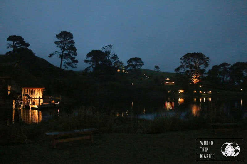 Hobbiton at dusk is just amazing. It's worth going to the Dinner Tour just for that reason. We loved it!
