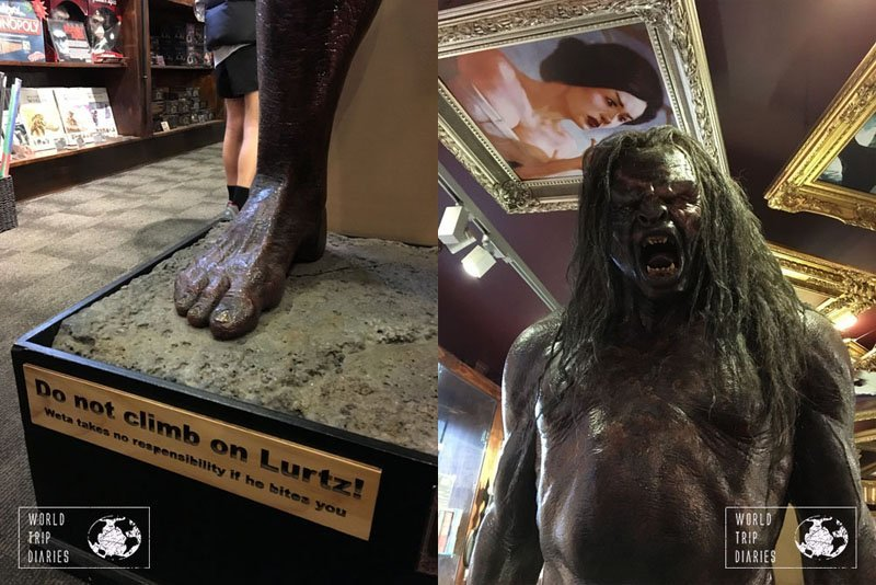 The actual size sculpture of Lurtz, the orc. It's amazing. It's in Weta Cave, in Wellington, NZ. It's an awesome place for nerdy families!