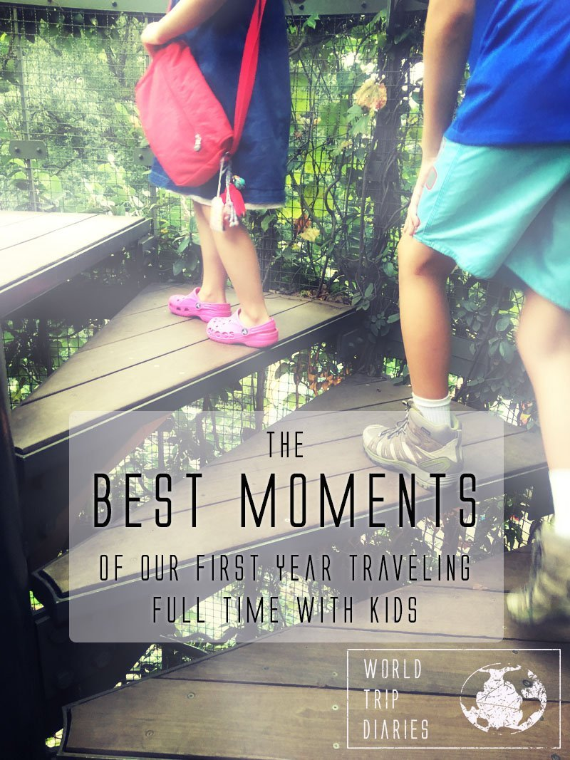 What's the best moment in your last vacation? We're sharing the best moments of our first year traveling with our kids!