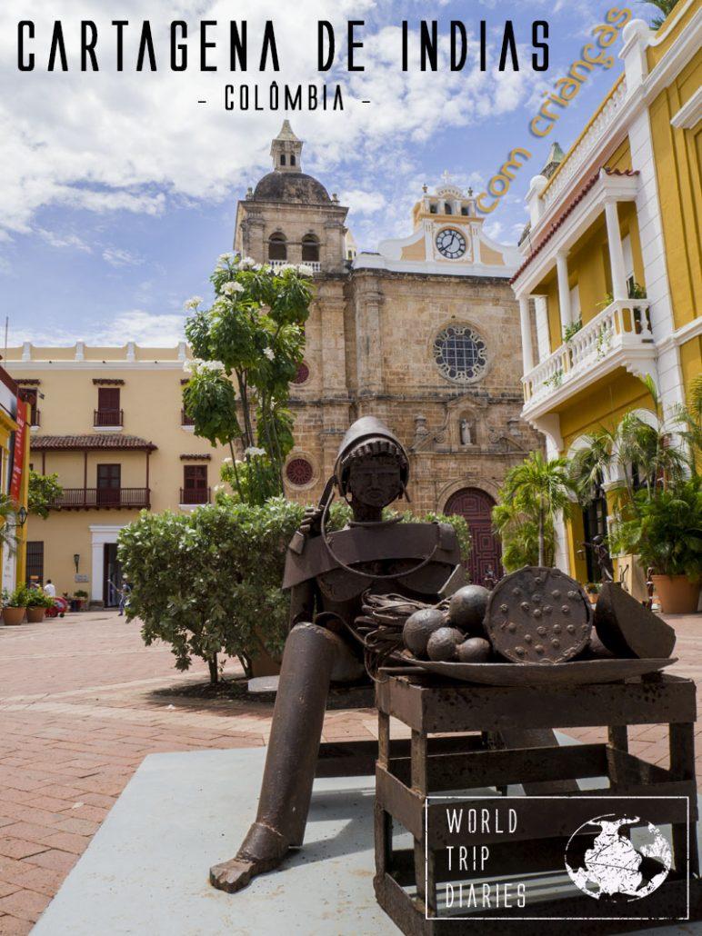 Cartagena, na Colômbia, é uma cidade altamente turística, mas isso não tira o seu charme. É o destino perfeito para umas férias em família!