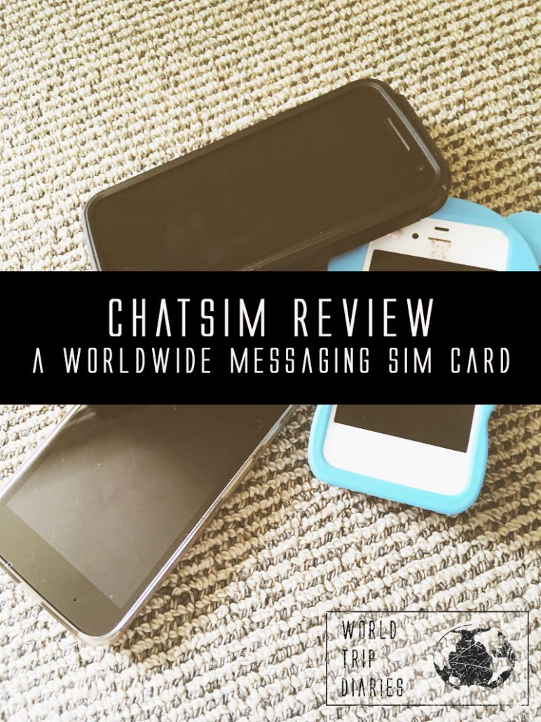 When travelling for a long time, we are qualified to talk about our travel Sim card: ChatSim. Click for more.