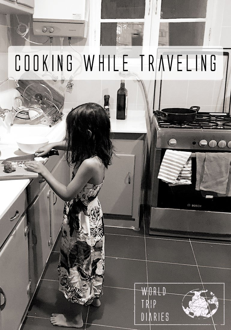 Cooking while traveling may not be the most attractive thought, but sometimes it's necessary. Click for tips and more! #cooking #travel #traveling #familytravel #budgettravel