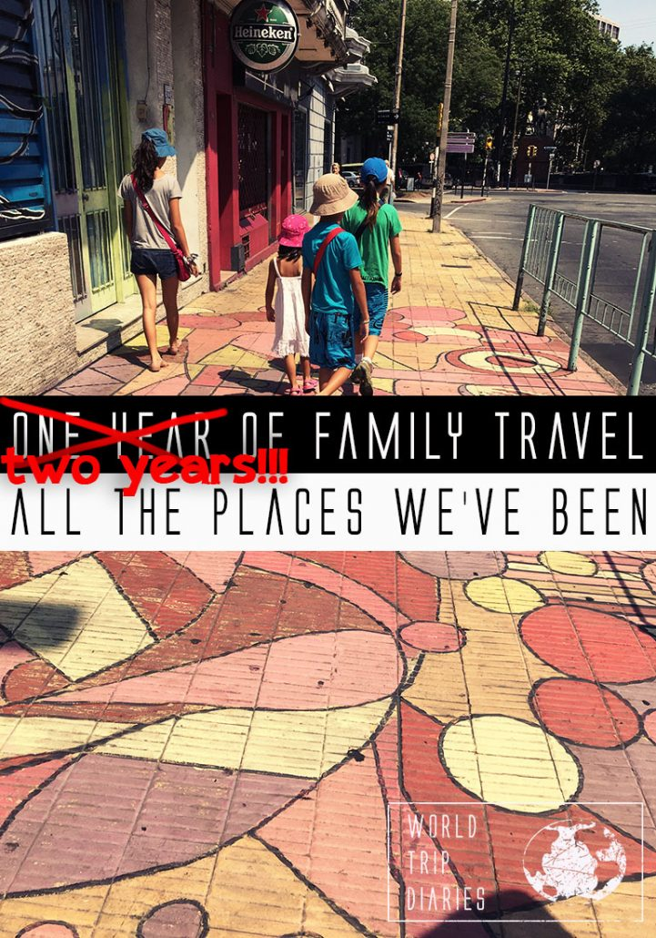 How much travel can we do with kids in 2 years? If you want to know how many we visited, click! #familytravel #longtermtravel #travelwithkids