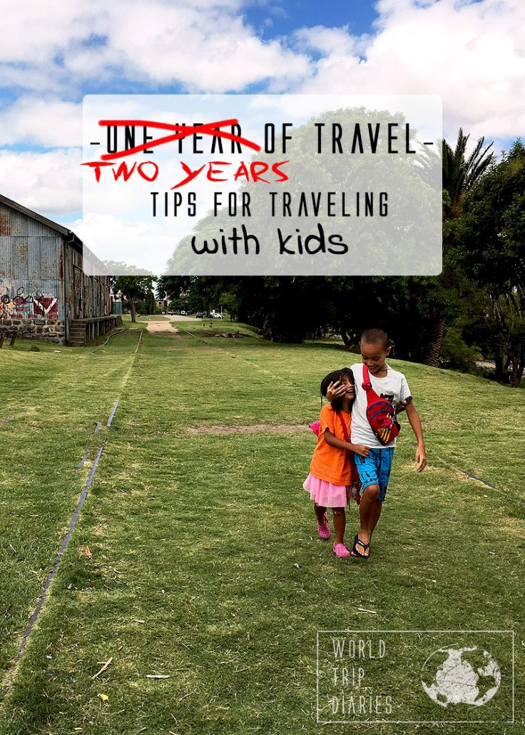 We've been traveling with the kids for 2 years now. Click here to see our tips to make the trips easier! #familytravel #tips