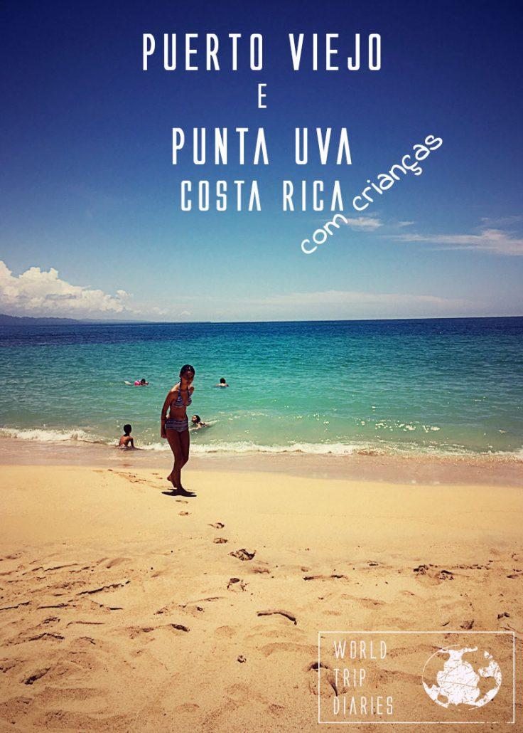 Punta Uva e Puerto Viejo, na Costa Rica, são cidades vizinhas, com praias maravilhosas, e muita vida selvagem, além de comidas muito boas! Fomos com os nossos filhos e nos divertimos muito! Clique para ler mais!
