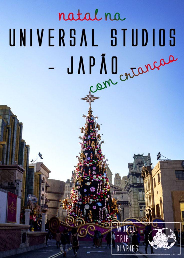 Visitamos o parque da Universal Studios Japan no inverno com as crianças em época de natal! Veja como foi!