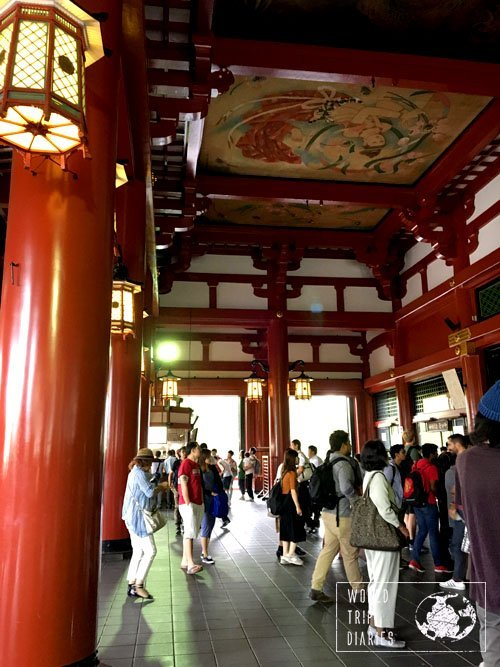 In Japan, you need to enter at least one temple to see the inside of it. It's intricate and beautiful, but they're so crowded!