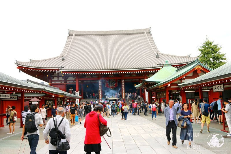 One of the most important sites in Asakusa is Asakusa Shrine. It's beautiful, well kept, but very crowded. If you travel with kids, keep them close. Click for more!