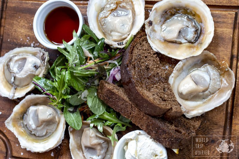 A platter of Bluff oysters, a Southland delicacy.