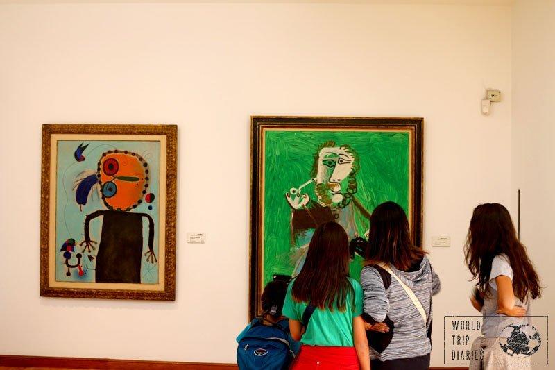 Picaso and Miro, Museo Botero, Bogota, Colombia