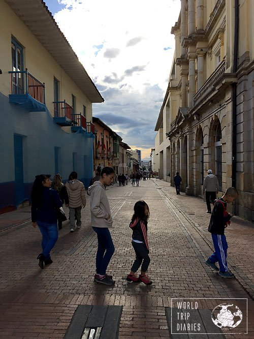 Candelaria, Bogota, Colombia, with kids