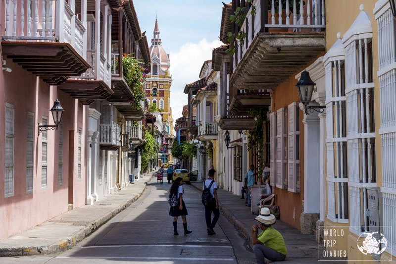 If there's one beautiful town in the world, it would be the Walled City in Cartagena, Colombia. The colorful houses, the beautiful people, it's stunning!