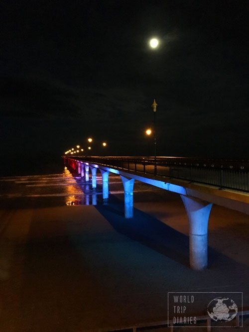New Brighton Pier, in Chrustchurch (NZ) is a beautiful spot - just try to go on a warm night and enjoy the view properly.