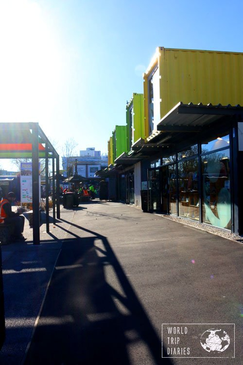 Re:Start Mall, Christchurch (NZ). After the earthquake in 2011, the city's been rebuilt and it's great!