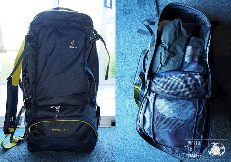 The Deuter Transit 50 is one amazing carry-on backpack. It's a bit above the carry-on size, but if you don't fill it to the brim, it doesn't look big.