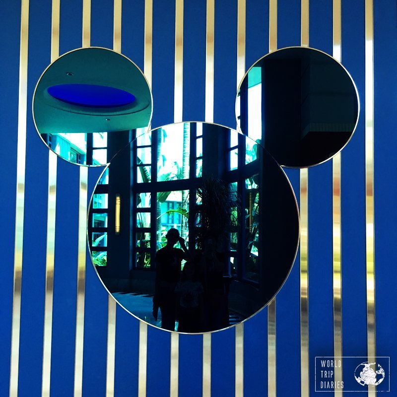 Throughout the whole Disney Resorts, there are many Mickey figures and silhouettes. How many can you find?