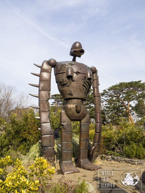 The giant guardian robot from Castle in The Sky on the courtyard of Ghibli Museum, in Tokyo, Japan. If you like any Ghibli movie, go visit it!