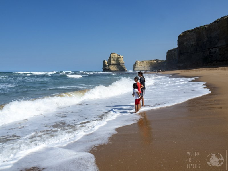 The Gibson Steps take you to the beach so you can have a different point of view of the Twelve Apostles. It's an awesome different view!