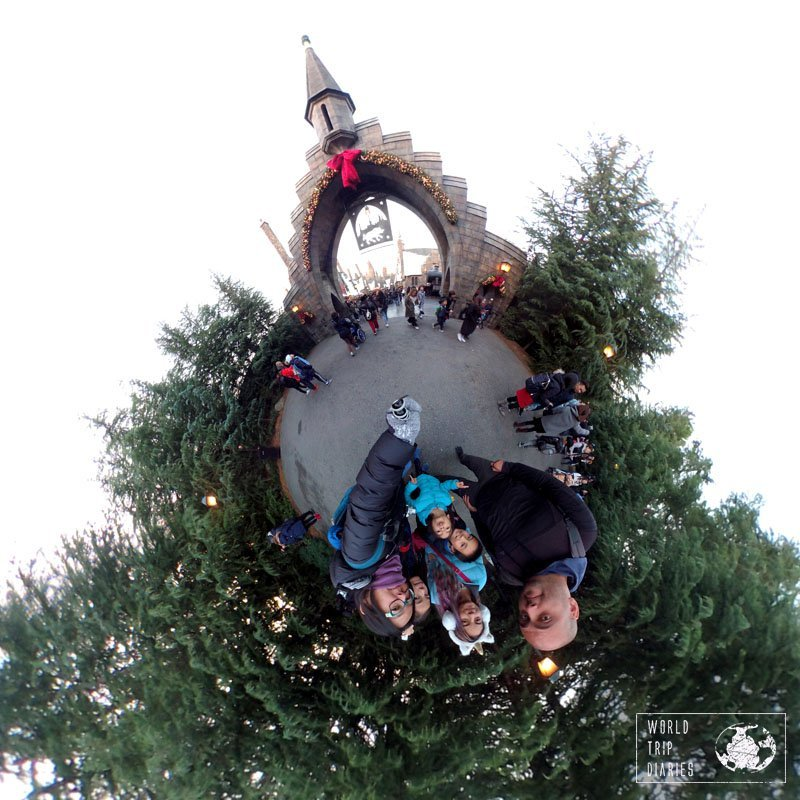 Hogsmeade decorated for Christmas didn't have much, but it was still awesome!