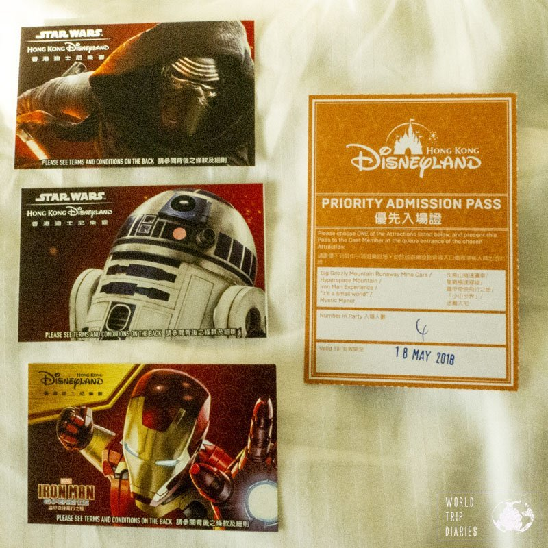 These were the tickets and the Fastpasses for Hong Kong Disneyland. It's just another little souvenir to take home...