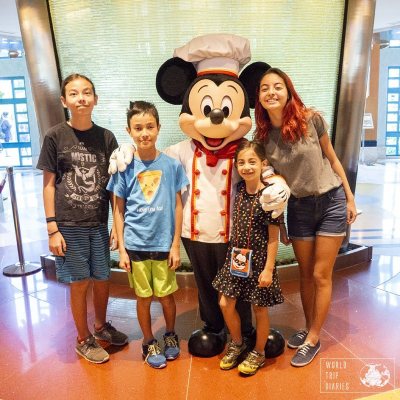 You can meet a few characters at the Disney Hotels in Hong Kong Disneyland. They show up during the day! Click for more!