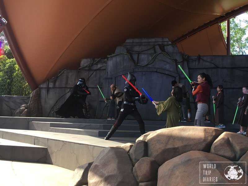 The Jedi Training is one cool feature where kids can try to fight against the Dark Side and become a Jedi. It's free and it's in Disneyland Hong Kong too.