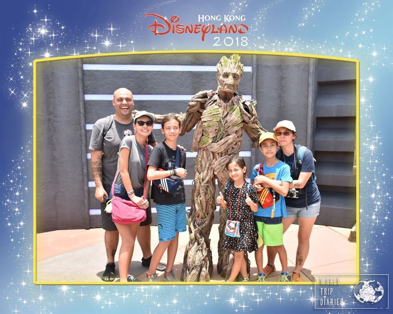 We'd watched Infinity Wars a few weeks earlier and then we saw Groot, all grown up at Disneyland Hong Kong. Spoiler?