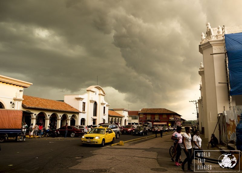 Walking in Leon, Nicaragua, during the wet season, brought some rewarding moments with skies like those.