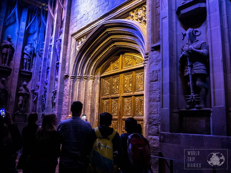 The entrance to the Great Hall, at Warner Bros Studios - The Making of Harry Potter. It was pretty awesome seeing all the sceneries and the props - too bad we couldn't touch them, though, and that would be a little difficult for the little ones.
