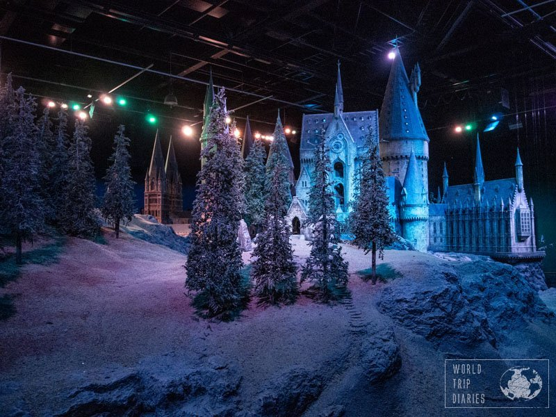 One of the highlights of the Warner Bros Studios - The Making of Harry Potter tour is the castle of Hogwarts. It's so small, and yet so big! And the video of the making of the castle is worth watching!
