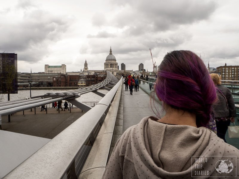 Millenium Bridge became a London must visit after the Death Eaters destroyed it (Harry Potter). Probably not, but for us, it is what happened. Click for more!