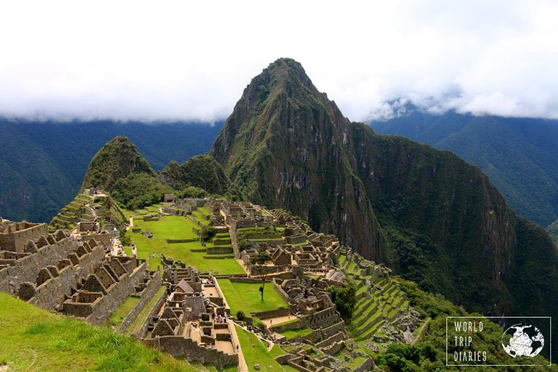 The classic view of Machu Picchu. It's the first view of it from the entrance and it's exciting! Machu Picchu is great for kids, we took ours! Click for more!