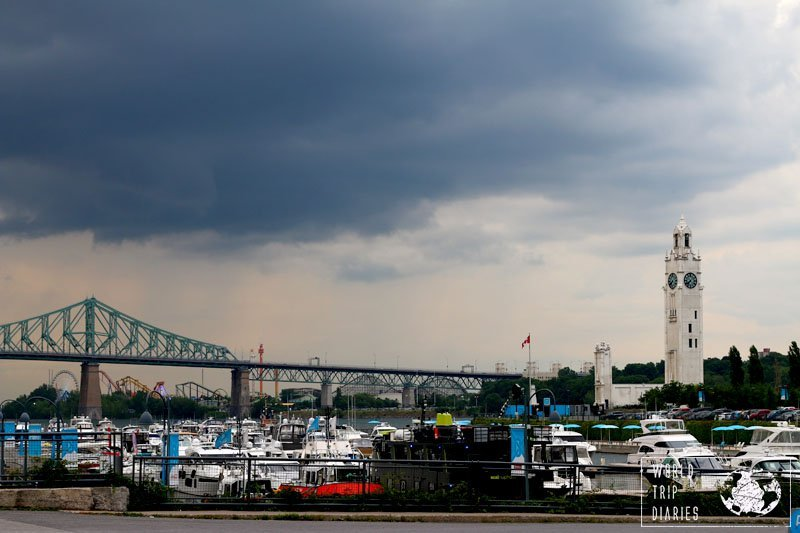 The Harbour in Montreal is beautiful in any weather