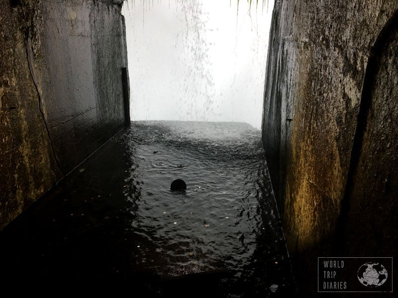 The tunnel from Journey Behind the Falls, Niagara Falls, Canada. Read how it was with kids!