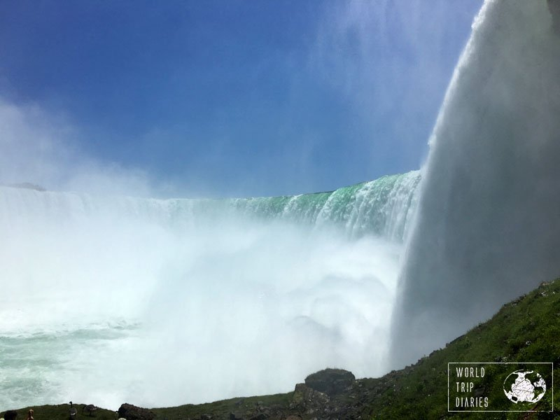 Another view from Journey Behind the Falls. This one was really wet and pleasant! Click to read more!