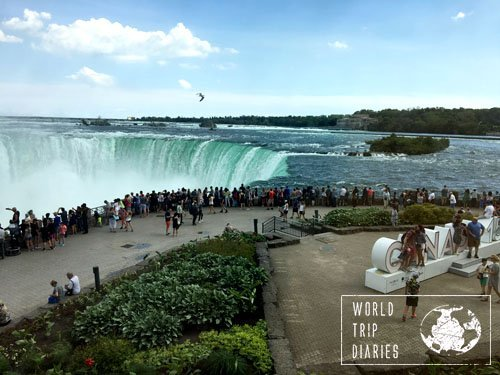 Niagara Falls, in Canada. It's one massive waterfall - a true wonder. We visited with the kids! Click for more!