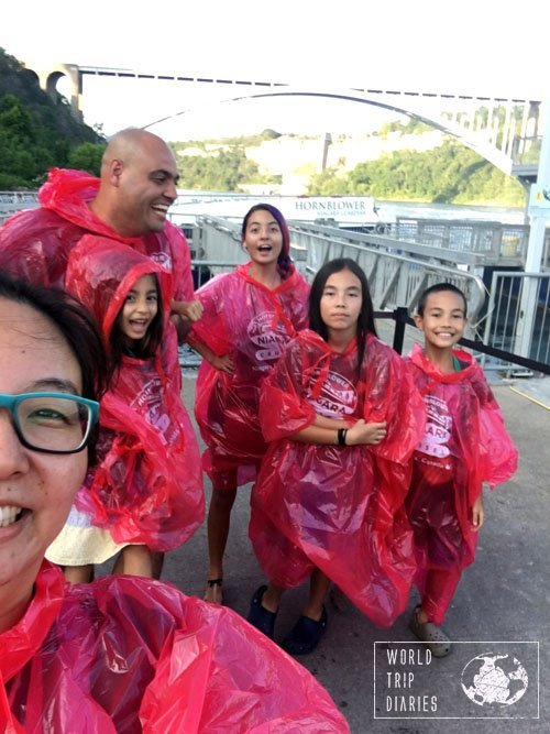 Family selfie at Niagara Falls . Click to read more about the day!