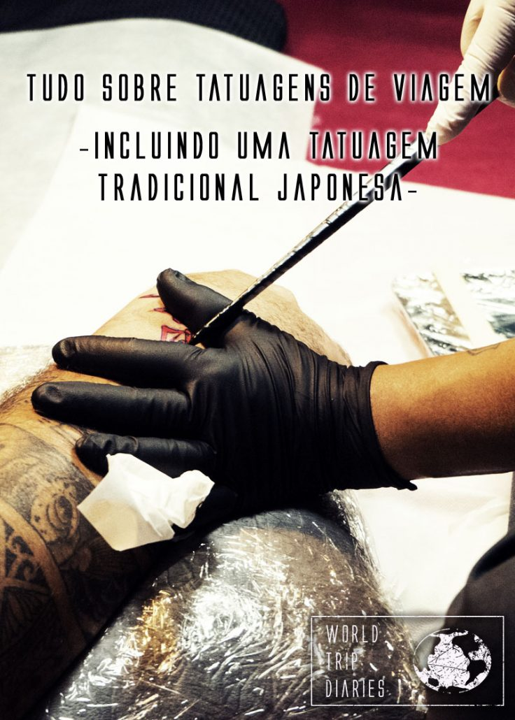 Tatuagens são as melhores lembrancinhas que existem! Estamos fazendo uma pequenininha de cada lugar e conseguimos fazer uma Tebori tradicional japonesa! Clique para saber mais!