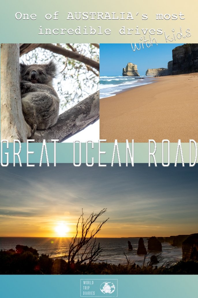 The Great Ocean Road is one of the most scenic drives in Australia. Find out the best way to enjoy it when you're traveling with kids! #greatoceanroad #australia #twelveapostles #melbourne #familytravel