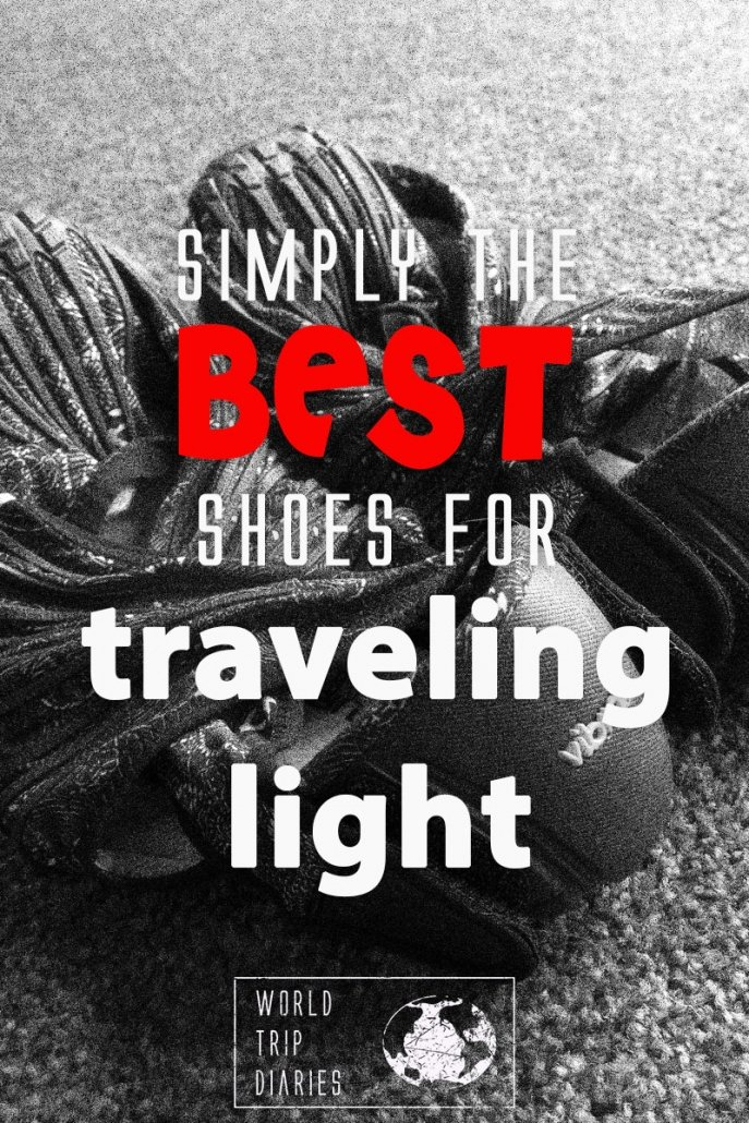 There are many good shoes out there, but these ones are the best for people who travel light! #travel #travellight #travelinglight #carryontravel #travelshoes
