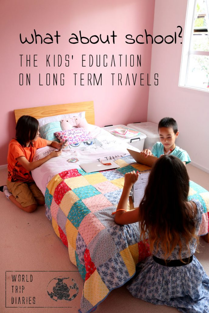 Find out how to manage the education of kids on long trips!
