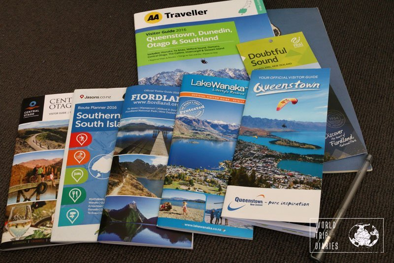 A collection of free guidebooks collected on the South Island of NZ. Most tourist information centers in the world offer this kind of guidebooks and they are useful!