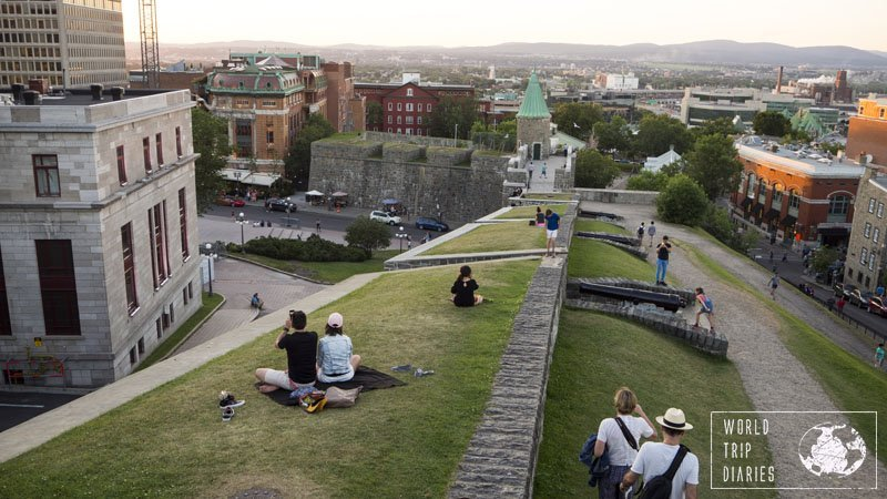 Walking on the wall was one of the highlights of Quebec City for our kids and for us. What an amazing experience!
