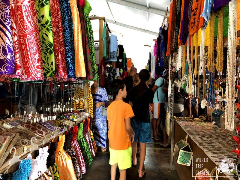 Apia Markets, in Samoa. It's very touristy but fun to walk around on a not so hot day. Otherwise it's too hot, seriously.