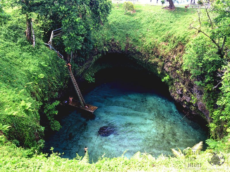 The one attraction one can't miss in Upolu Island, Samoa, with kids, is the unbelievably beautiful To Sua Trench. This natural saltwater pool is pure joy!