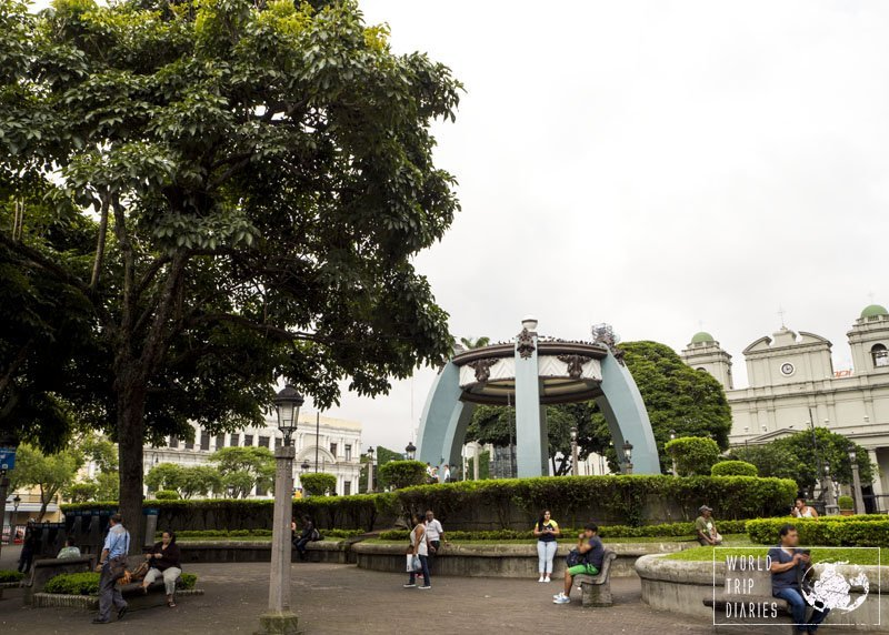 This is Central Park. We had fun taking photos there, but there are more interesting places in San Jose, Costa Rica.
