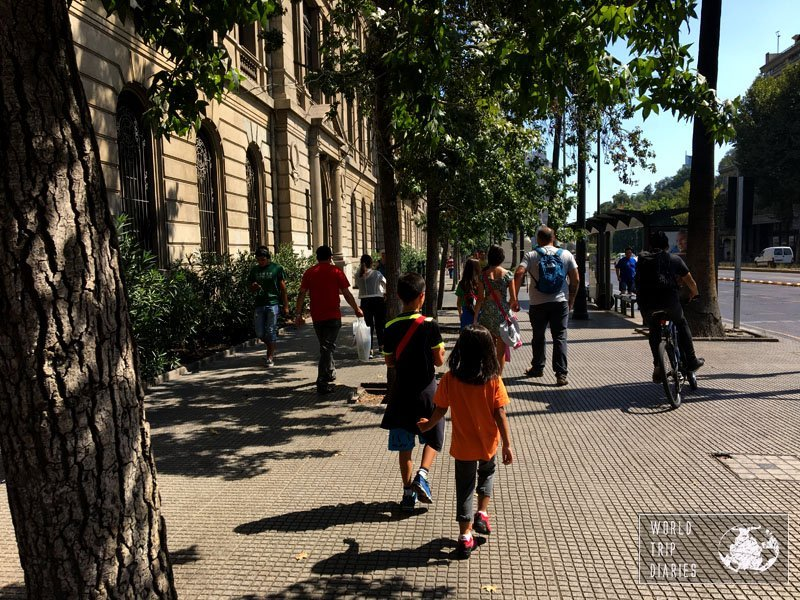 santiago walk with kids chile