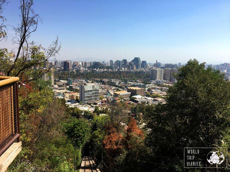funicular cerro san cristobal santiago chile