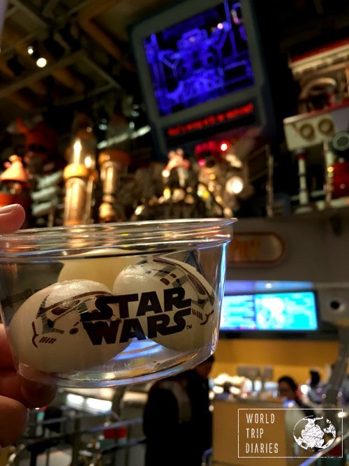 The storm troopers mochi (rice dough balls) were one of the best things we ate during our visit to Disney Tokyo! Click to know more!